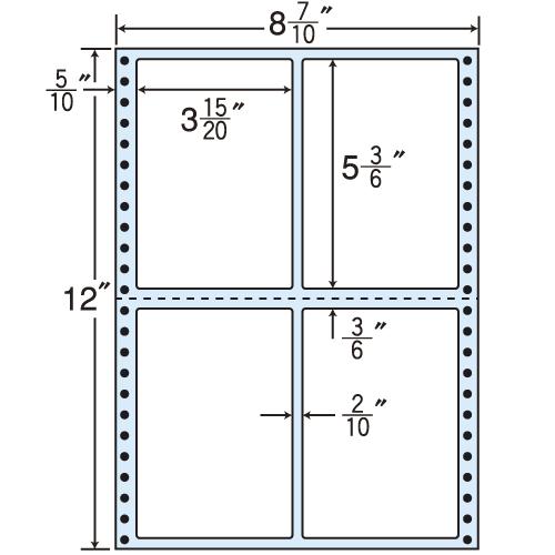 東洋印刷 タックシール nana レギュラータイプ (連続ラベル) 500折 MT8X