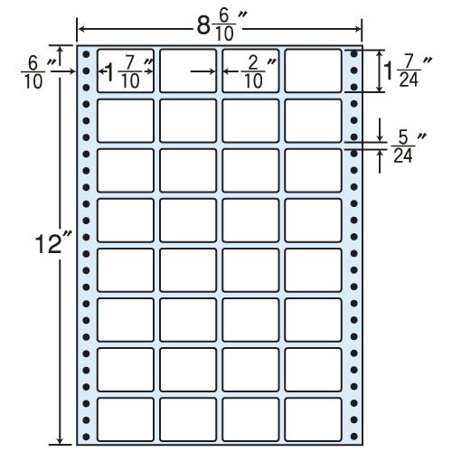 東洋印刷 タックシール nana レギュラータイプ (連続ラベル) 500折 MM8J