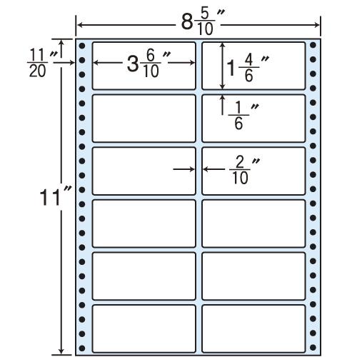 東洋印刷 タックシール nana レギュラータイプ (連続ラベル) 500折 MT8E