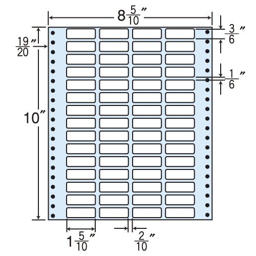 東洋印刷 タックシール nana レギュラータイプ (連続ラベル) 500折 MT8Z