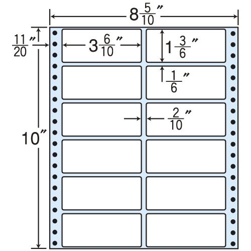 東洋印刷 タックシール nana レギュラータイプ (連続ラベル) 500折 MM8F