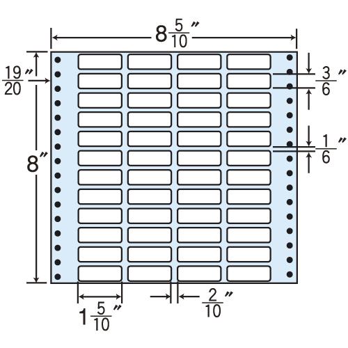 東洋印刷 タックシール nana レギュラータイプ (連続ラベル) 500折 MT8M