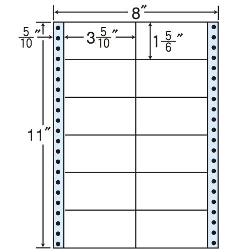 東洋印刷 タックシール nana レギュラータイプ (連続ラベル) 500折 MM8H