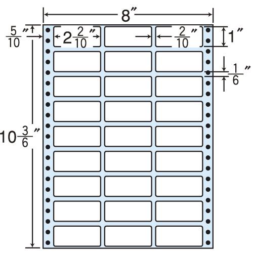 東洋印刷 タックシール nana レギュラータイプ (連続ラベル) 500折 MT8W