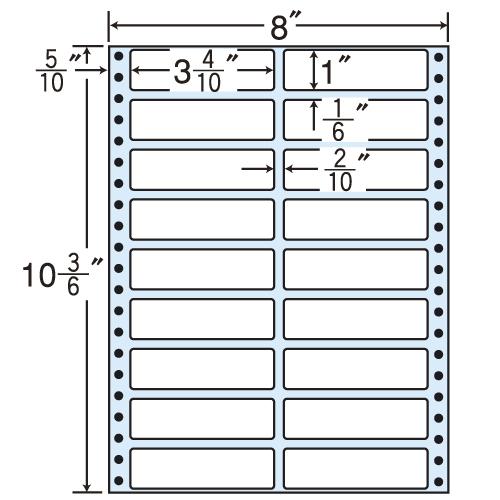 東洋印刷 タックシール nana レギュラータイプ (連続ラベル) 500折 MT8H
