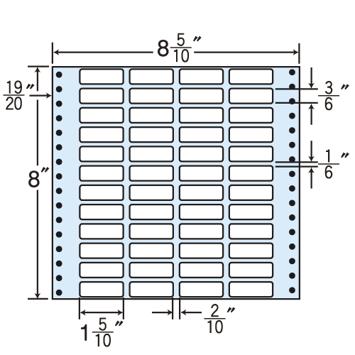 東洋印刷 タックシール nana レギュラータイプ (連続ラベル) 500折 MM8M