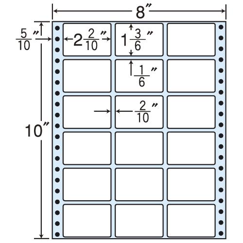 東洋印刷 タックシール nana レギュラータイプ (連続ラベル) 500折 MX8A