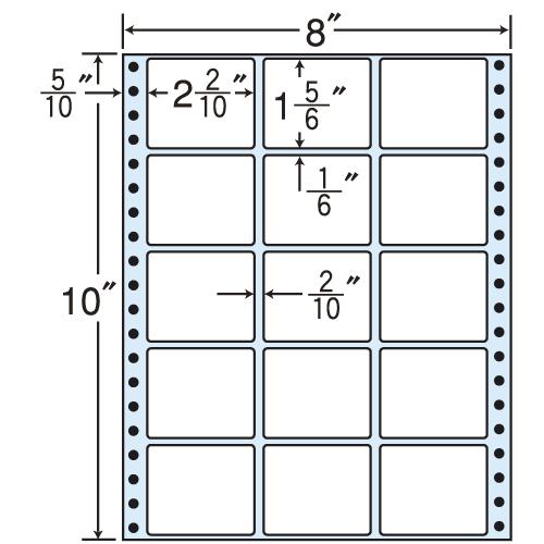 東洋印刷 タックシール nana レギュラータイプ (連続ラベル) 500折 MT8V