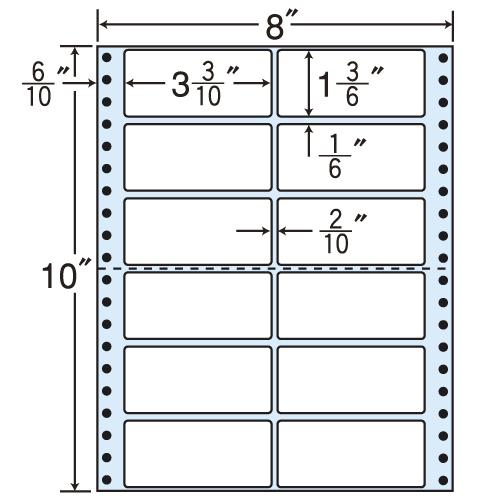 東洋印刷 タックシール nana レギュラータイプ (連続ラベル) 500折 MM8P