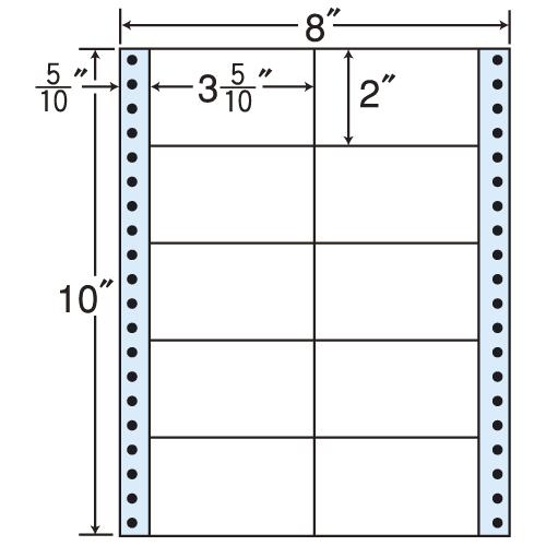東洋印刷 タックシール nana レギュラータイプ (連続ラベル) 500折 MM8B