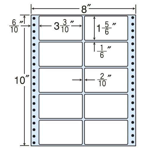 東洋印刷 タックシール nana レギュラータイプ (連続ラベル) 500折 MM8i
