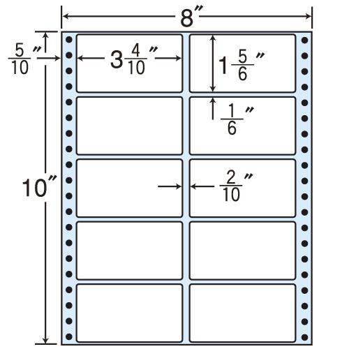 東洋印刷 タックシール nana レギュラータイプ (連続ラベル) 500折 MT8i