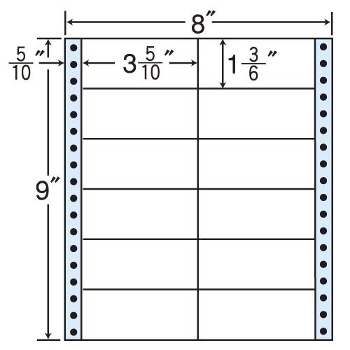 東洋印刷 タックシール nana レギュラータイプ (連続ラベル) 500折 MM8C