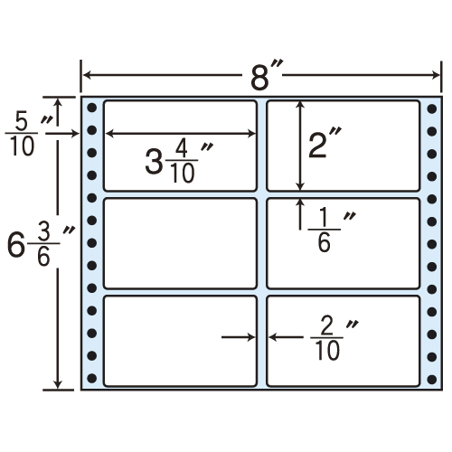 東洋印刷 タックシール nana レギュラータイプ (連続ラベル) 500折×2 MM8U