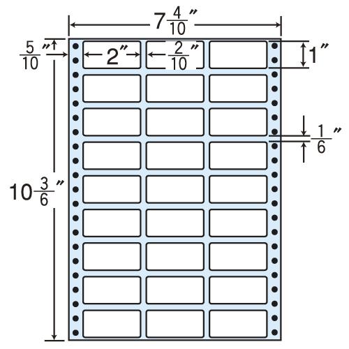東洋印刷 タックシール nana レギュラータイプ (連続ラベル) 500折×2 MT7L