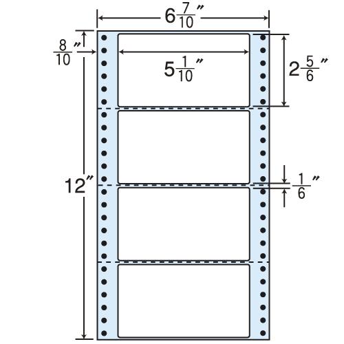 東洋印刷 タックシール nana レギュラータイプ (連続ラベル) 500折×2 MM6A