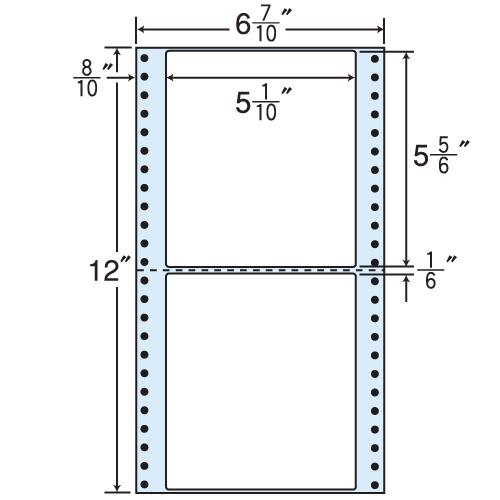 東洋印刷 タックシール nana レギュラータイプ (連続ラベル) 500折×2 MM6B