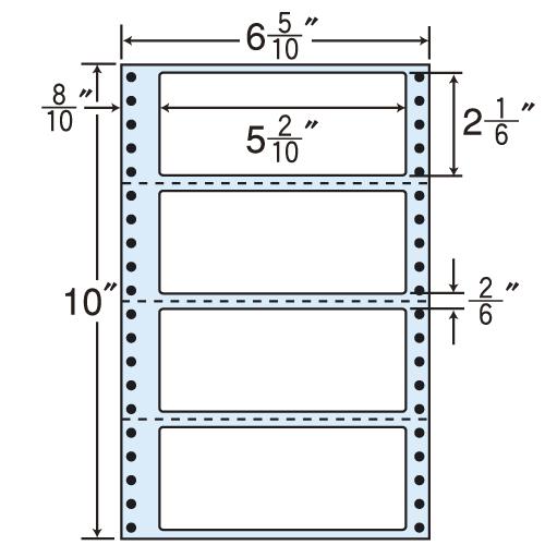 東洋印刷 タックシール nana レギュラータイプ (連続ラベル) 500折×2 MM6R