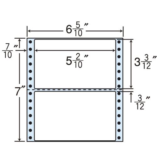 東洋印刷 タックシール nana レギュラータイプ (連続ラベル) 500折×2 MM6H