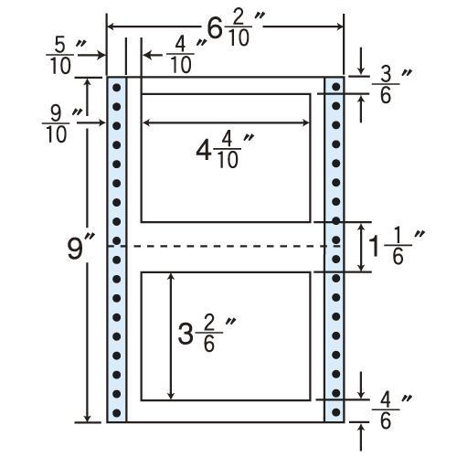 東洋印刷 タックシール nana レギュラータイプ (連続ラベル) 500折×2 MT6P