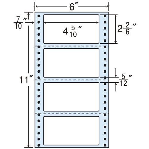 東洋印刷 タックシール nana レギュラータイプ (連続ラベル) 500折×2 MM6F
