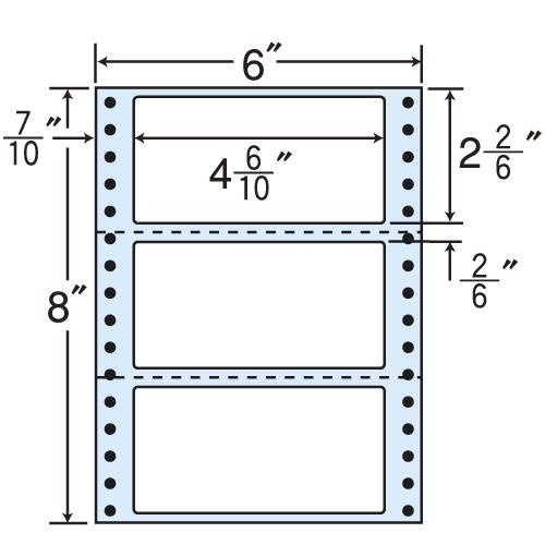 東洋印刷 タックシール nana レギュラータイプ (連続ラベル) 500折×2 MM6E