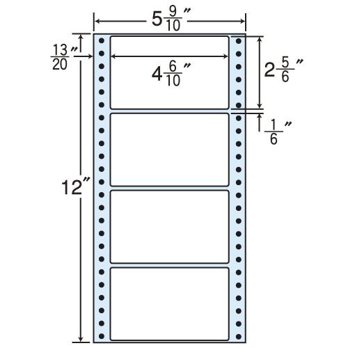 東洋印刷 タックシール nana レギュラータイプ (連続ラベル) 500折×2 MT5B