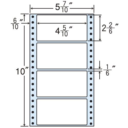東洋印刷 タックシール nana レギュラータイプ (連続ラベル) 500折×2 MM5Y