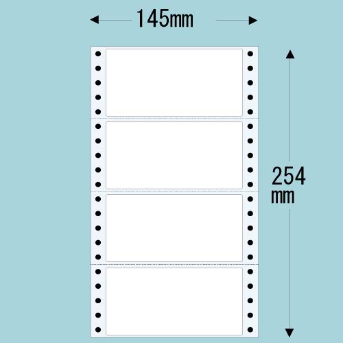 東洋印刷 Oタックシール nana レギュラータイプ (連続ラベル) 500折×2 MT5