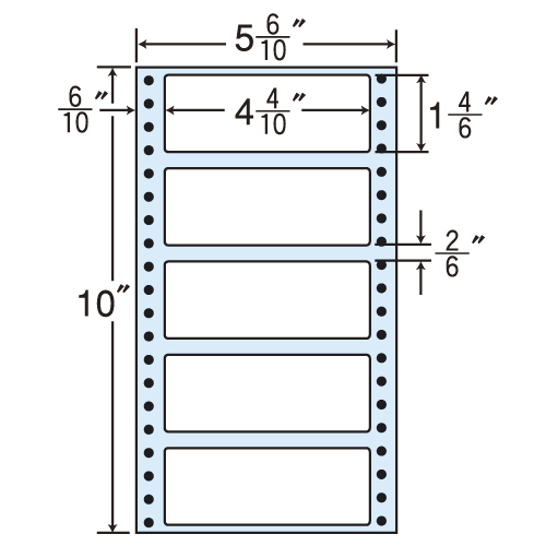 東洋印刷 タックシール nana レギュラータイプ (連続ラベル) 500折×2 MM5R