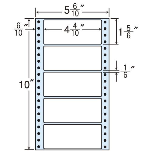 東洋印刷 タックシール nana レギュラータイプ (連続ラベル) 500折×2 MT5E