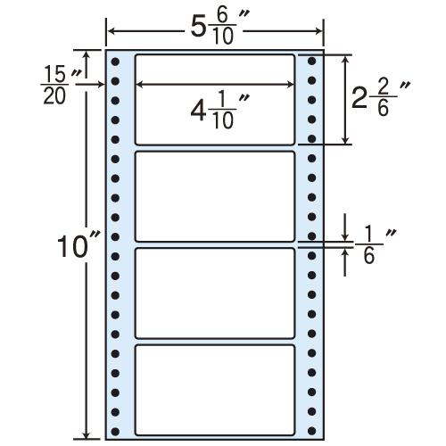 東洋印刷 タックシール nana レギュラータイプ (連続ラベル) 500折×2 MT5F