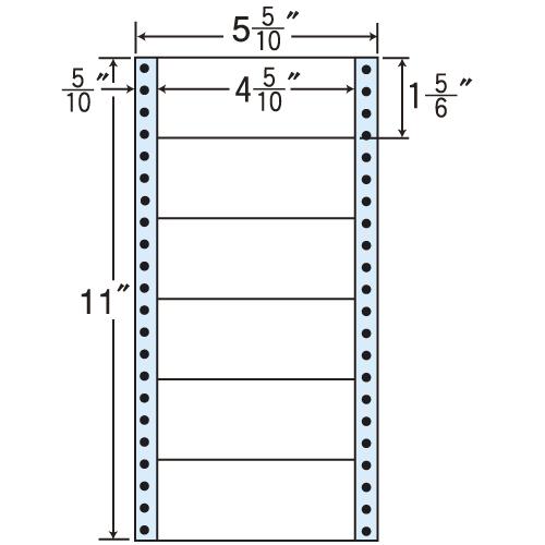 東洋印刷 タックシール nana レギュラータイプ (連続ラベル) 500折×2 MM5K