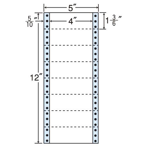 東洋印刷 タックシール nana レギュラータイプ (連続ラベル) 500折×2 MX5A