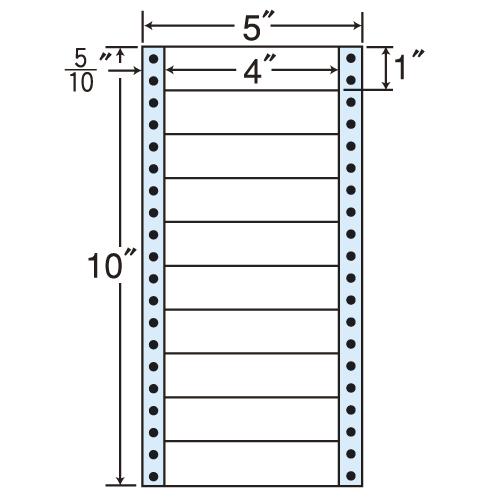 東洋印刷 タックシール nana レギュラータイプ (連続ラベル) 500折×2 MM5C