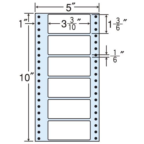 東洋印刷 タックシール nana レギュラータイプ (連続ラベル) 500折×2 MM5P