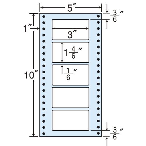 東洋印刷 タックシール nana レギュラータイプ (連続ラベル) 500折×2 MT5N