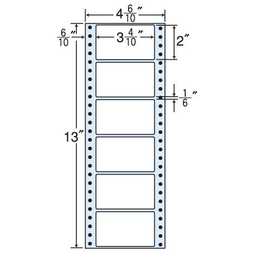 東洋印刷 タックシール nana レギュラータイプ (連続ラベル) 500折×2 MM4F