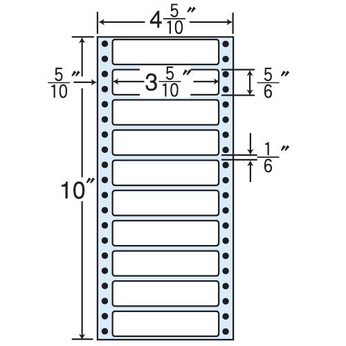東洋印刷 Oタックシール nana レギュラータイプ (連続ラベル) 500折×2 MM4