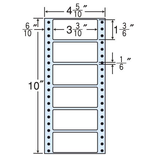 東洋印刷 タックシール nana レギュラータイプ (連続ラベル) 500折×2 MM4N