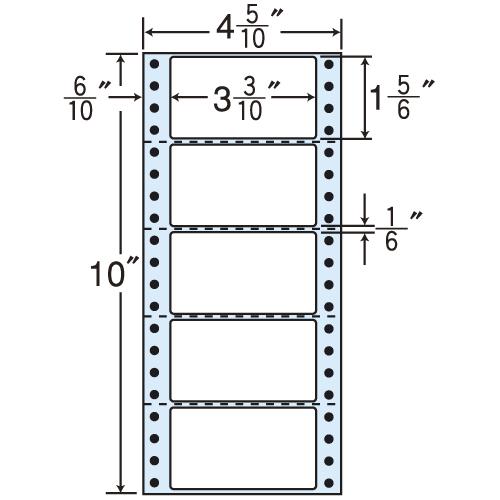東洋印刷 タックシール nana レギュラータイプ (連続ラベル) 500折×2 MM4R