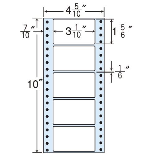 東洋印刷 タックシール nana レギュラータイプ (連続ラベル) 500折×2 MM4M