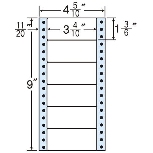 東洋印刷 タックシール nana レギュラータイプ (連続ラベル) 500折×2 MM4Q