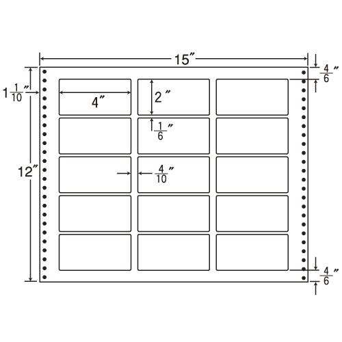 東洋印刷 タックシール nana 耐熱タイプ (連続ラベル) 500折 LB15L