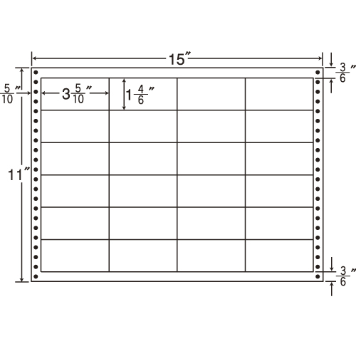 東洋印刷 タックシール nana 耐熱タイプ (連続ラベル) 500折 LB15J