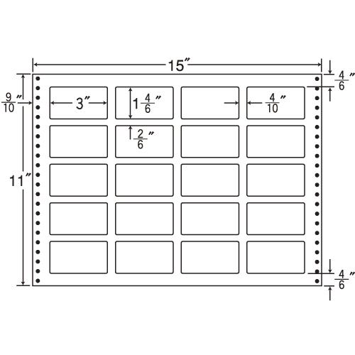 東洋印刷 タックシール nana 耐熱タイプ (連続ラベル) 500折 LB15H