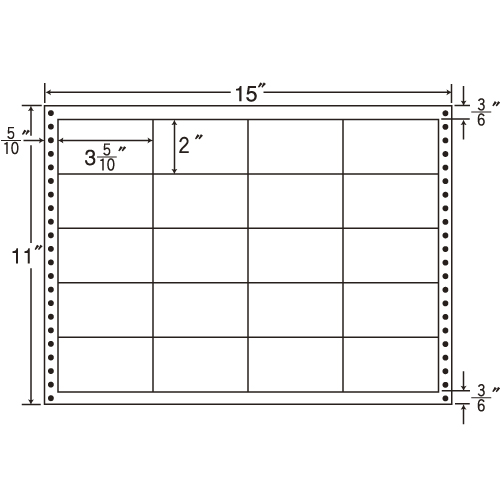 東洋印刷 タックシール nana 耐熱タイプ (連続ラベル) 500折 LB15K