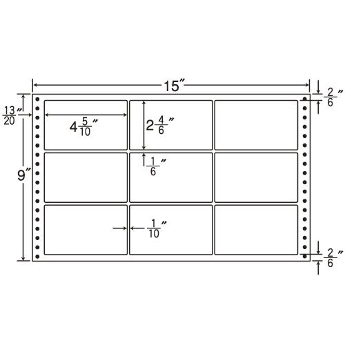 東洋印刷 タックシール nana 耐熱タイプ (連続ラベル) 500折 LT15F