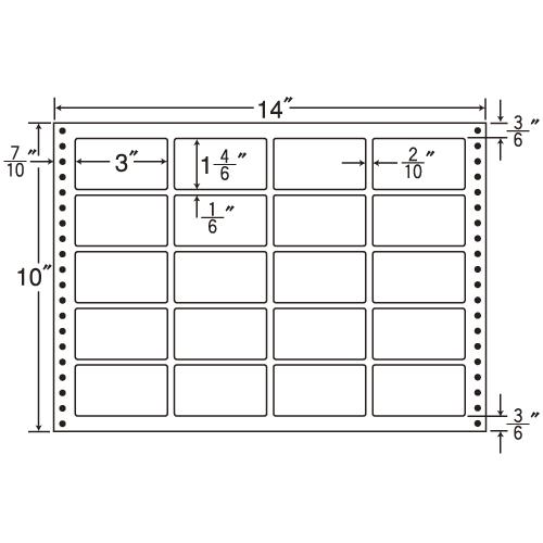 東洋印刷 タックシール nana 耐熱タイプ (連続ラベル) 500折 L14S