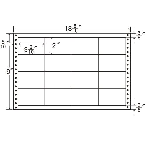 東洋印刷 タックシール nana 耐熱タイプ (連続ラベル) 500折 LB13B